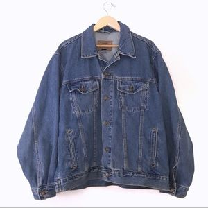 Vintage • Oversized Denim Trucker Jacket